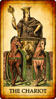"Tarot card ""The Chariot"""