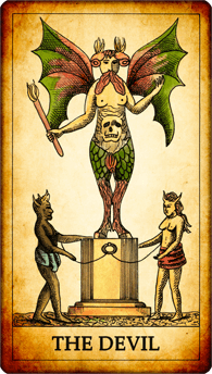 "Tarot card ""The Devil"""