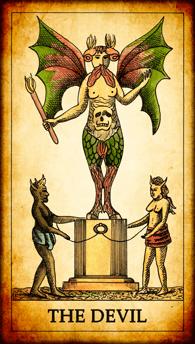 """Tarot card """"The Devil"""""""