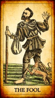 "Tarot card ""The Fool"""
