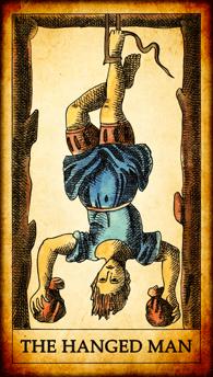 "Tarot card ""The Hanged Man"""