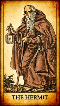 "Tarot card ""The Hermit"""