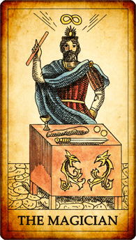 "Tarot card ""The Magician"""