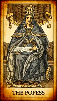 "Tarot card ""The Popess"""