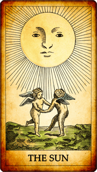 "Tarot card ""The Sun"""