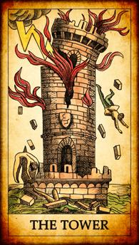 """Tarot card """"The Tower"""""""