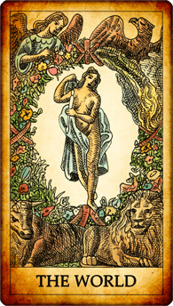 "Tarot card ""The World"""