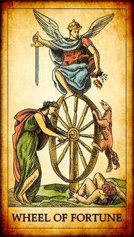 "Tarot card ""Wheel of Fortune"""
