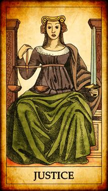 """Tarot card """"Justice"""""""