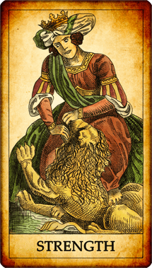 "Tarot card ""Strength"""