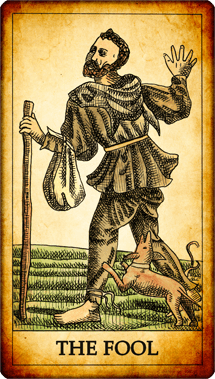"Tarot card ""The Fool"""