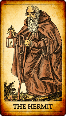 "Tarot card ""The Hermit"""