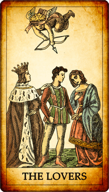 "Tarot card ""The Lovers"""