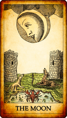 "Tarot card ""The Moon"""