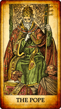"Tarot card ""The Pope"""