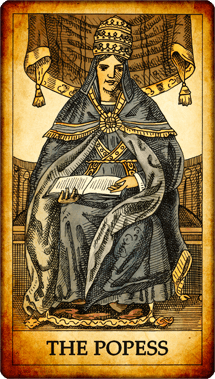 "Tarot card ""The Popess"""