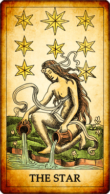 "Tarot card ""The Star"""