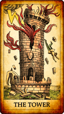 "Tarot card ""The Tower"""
