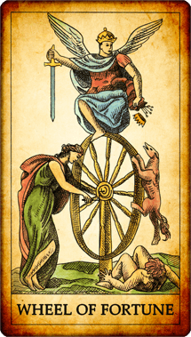 "Tarot card ""Wheel of Fortune"""