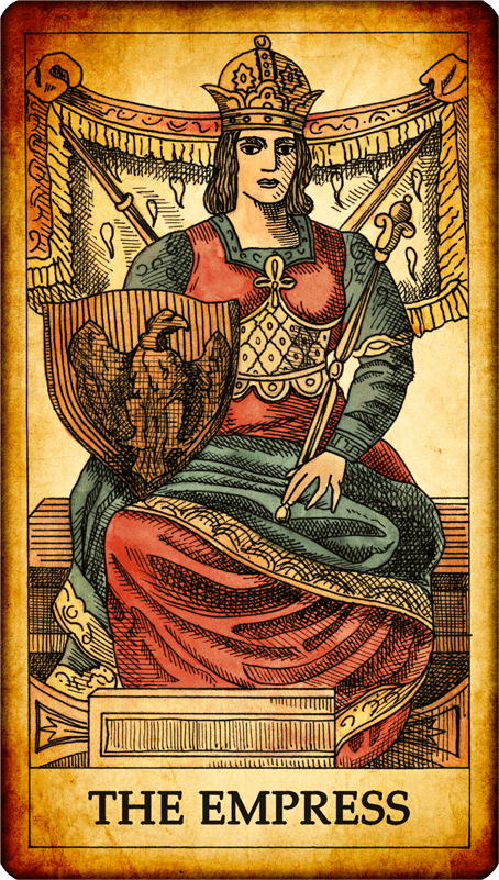 "The Empress And Death Antique Tarot Cards: Tarot Card ""The Empress"""