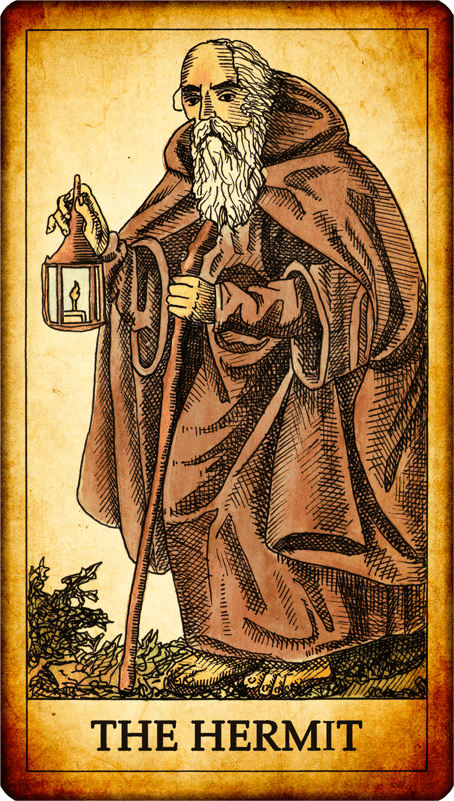 """The Hermit Tarot Card Meaning In Readings Isolation: Tarot Card """"The Hermit"""""""