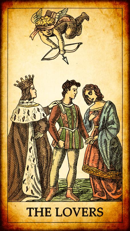 Resultado de imagem para the lovers tarot
