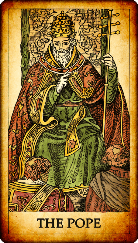 "Tarot Card ""The Pope"""